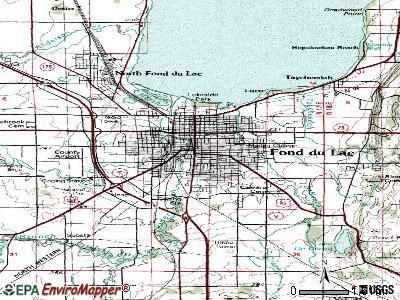 Fond du Lac topographic map