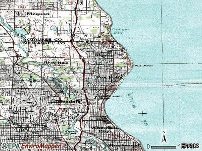 Fox Point topographic map