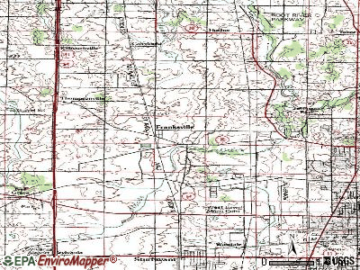 Franksville topographic map