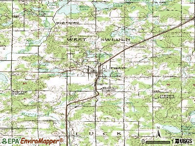 Frederic topographic map