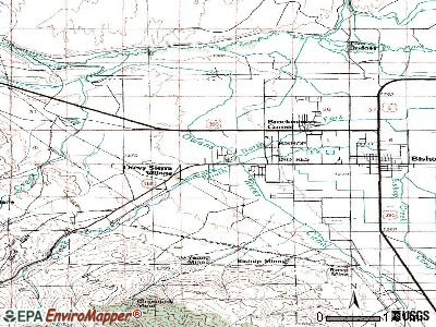 West Bishop topographic map