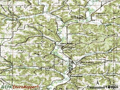 Gays Mills topographic map