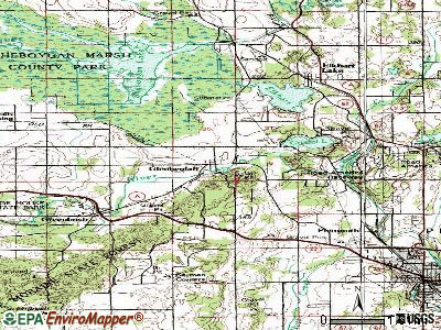 Glenbeulah topographic map