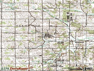 Glenwood City topographic map
