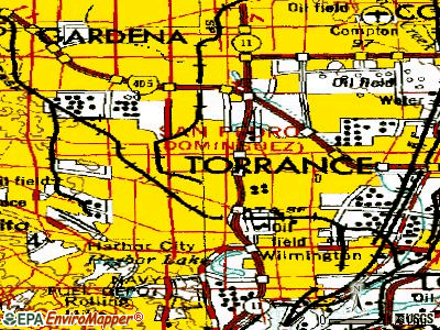 West Carson topographic map