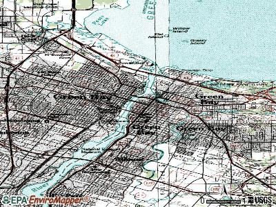 Green Bay topographic map