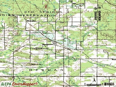 Gresham topographic map