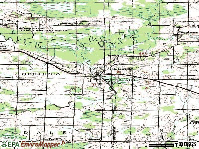 Hortonville topographic map