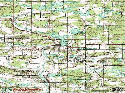 Iola topographic map