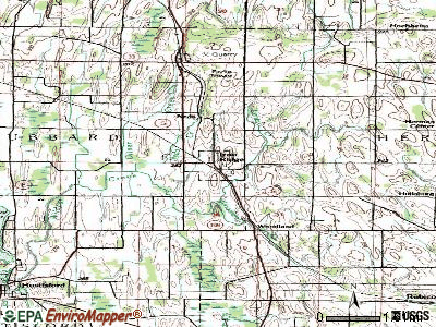 Iron Ridge topographic map