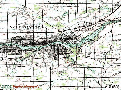 Kaukauna topographic map