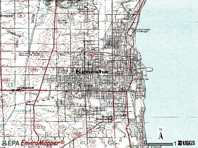 Kenosha topographic map