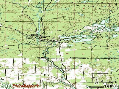 Keshena topographic map