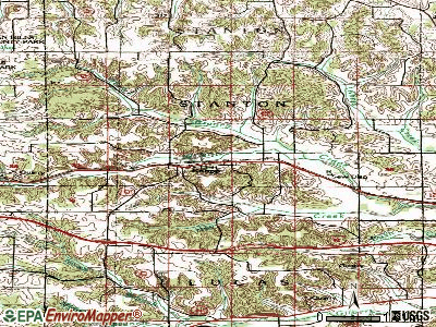Knapp topographic map