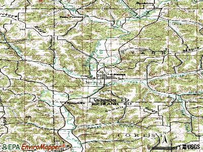 Lake Delton topographic map