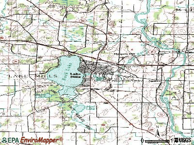 Lake Mills topographic map