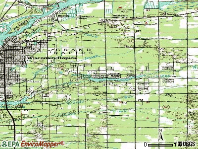 Lake Wazeecha topographic map