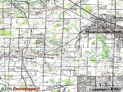 Lannon topographic map