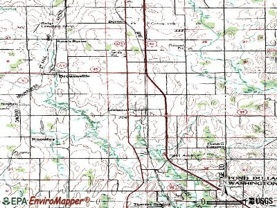 Lomira topographic map