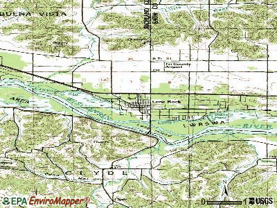 Lone Rock topographic map