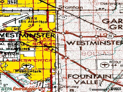Westminster topographic map