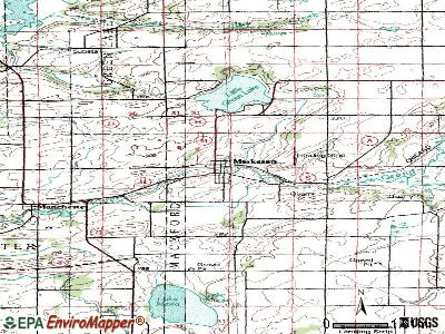 Markesan topographic map