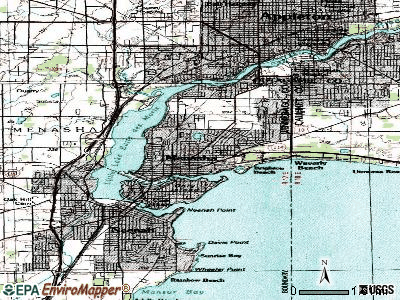 Menasha topographic map