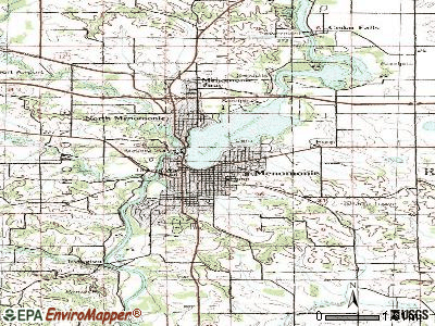 Menomonie topographic map