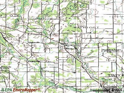 Mishicot topographic map