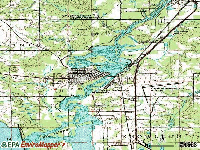 Mosinee topographic map