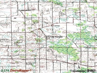 Mount Calvary topographic map