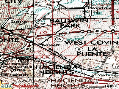 West Puente Valley topographic map