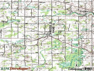New Glarus topographic map