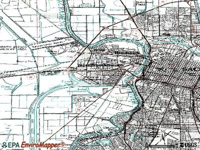 West Sacramento topographic map