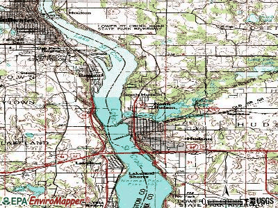 North Hudson topographic map