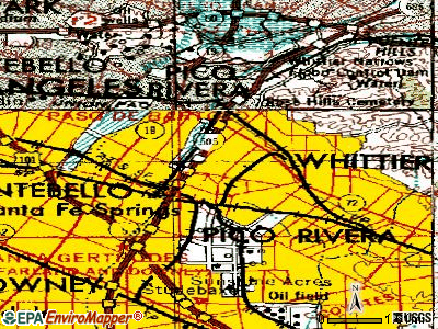 West Whittier-Los Nietos topographic map
