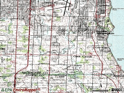 Oak Creek topographic map