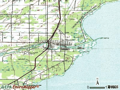Oconto topographic map