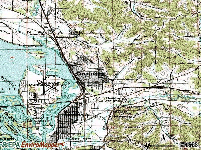 Oshkosh topographic map