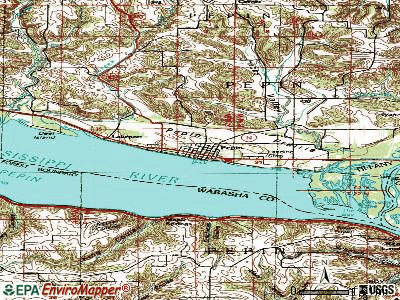 Pepin topographic map