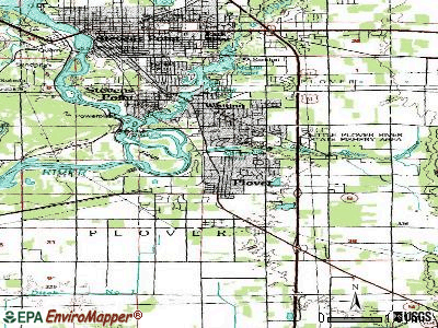Plover topographic map