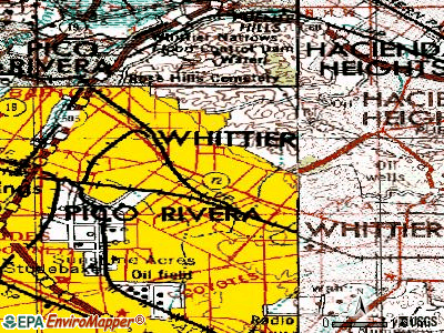 Whittier topographic map