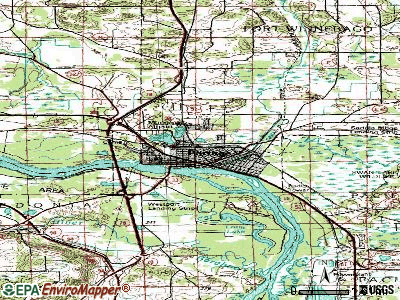 Portage topographic map
