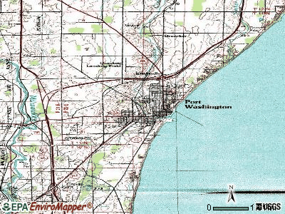 Port Washington topographic map