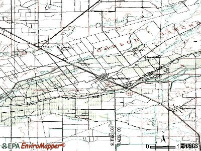 Wildomar topographic map