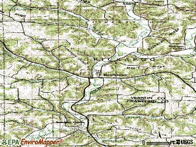 Readstown topographic map