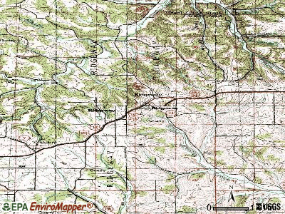 Ridgeway topographic map