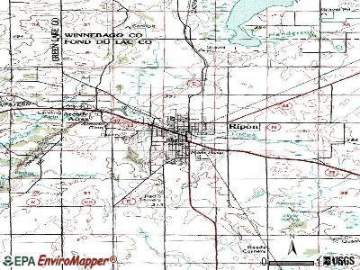 Ripon topographic map