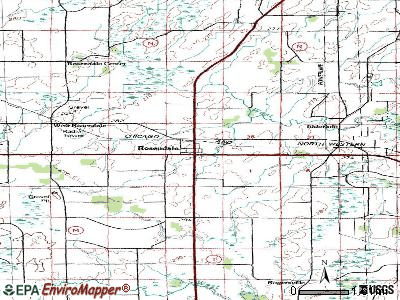 Rosendale topographic map