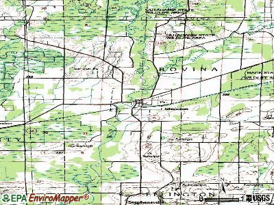 Shiocton topographic map